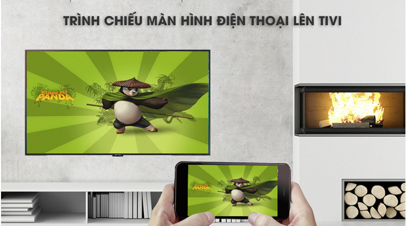 Chiếu màn hình điện thoại lên tivi-Smart Tivi Samsung 4K 43 inch UA43NU7800