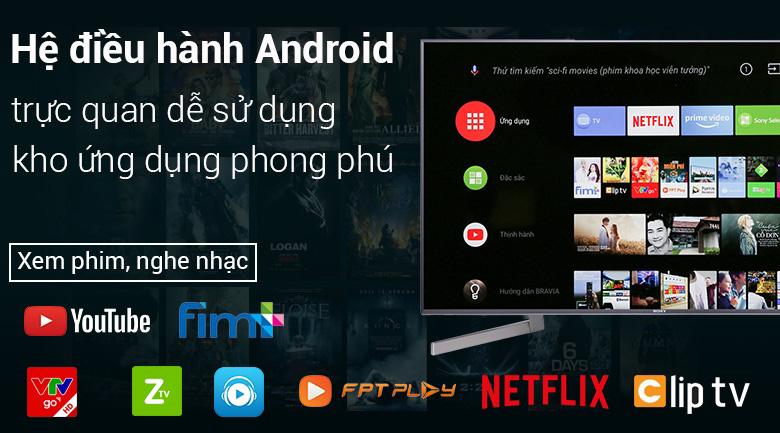 Hệ điều hành Android 8.0 trên Android Tivi Sony 49 inch KD-49X9000F