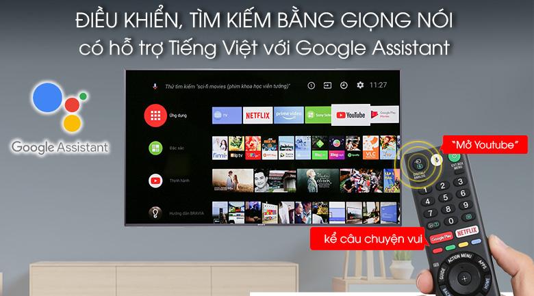 Tivi hỗ trợ điều khiển, tìm kiếm bằng giọng nói bằng tiếng Việt trên Android Tivi Sony 4K 49 inch KD-49X9000F