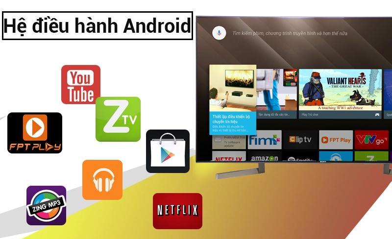 Hệ điều hành Android trên Android Tivi Sony 49 inch KD-49X9000F