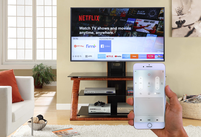 Điều khiển tivi bằng điện thoại thông qua ứng dụng Samsung Smart View