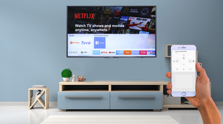 Điều khiển tivi bằng điện thoại thông qua ứng dụng Samsung SmartThings