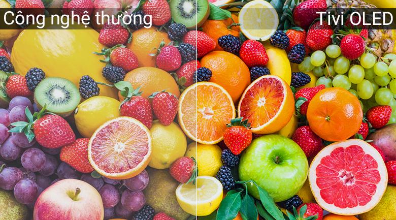 Công nghệ màn hình tivi OLED làm màu sắc hiển thị rực rỡ, bắt mắt và trung thực