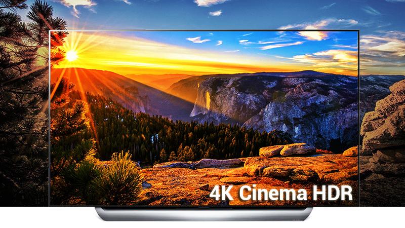 Công nghệ 4K Cinema HDR trên Smart Tivi OLED LG 4K 55 inch 55C8PTA
