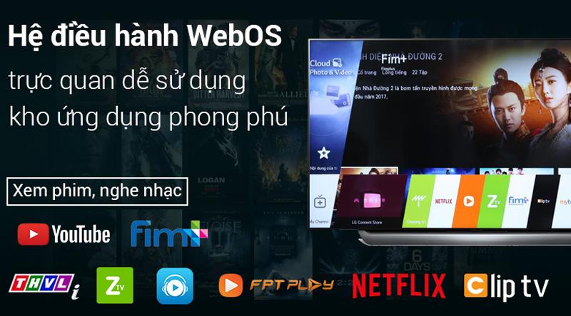 HHê điều hành Web OS trên Smart Tivi OLED LG 4K 55 inch 55C8PTA