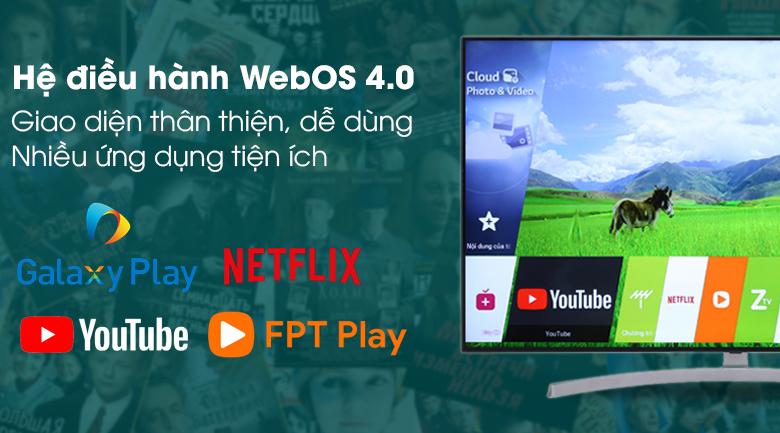 Hệ điều hành WebOS trên Smart Tivi LG 4K 49 inch 49SK8500PTA
