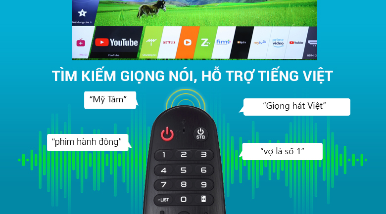 remote thông minh Smart Tivi LG 4K 43 inch 43UK6340PTF