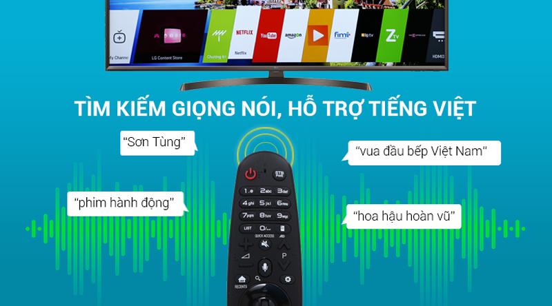 Tìm kiếm giọng nói bằng tiếng việt trên tivi LG 4K 49 inch 49UK6340PTF