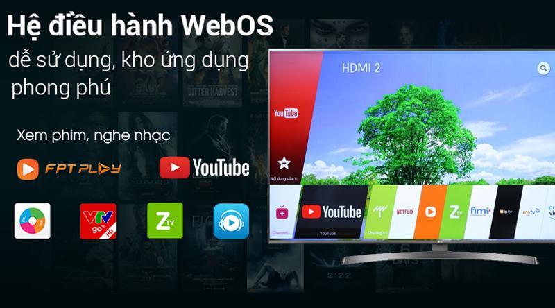 Hệ điều hành WebOS trên Smart Tivi LG 4K 49 inch 49UK6340PTF