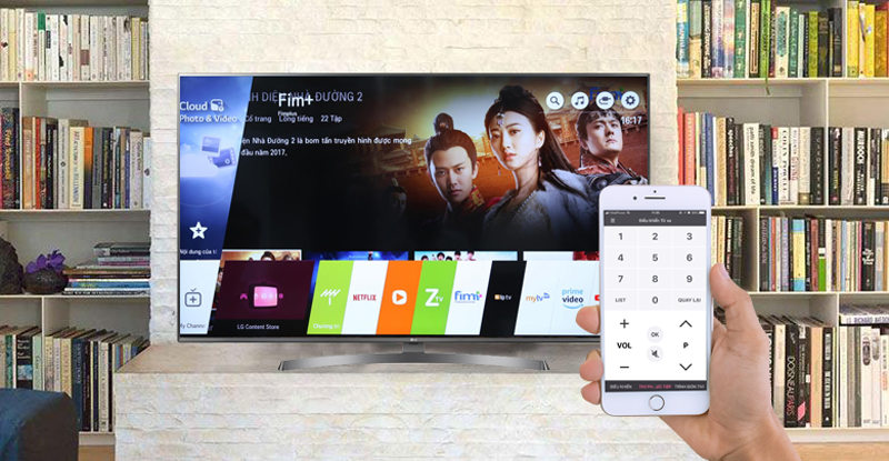 Đièu khiển tivi LG 4K 49 inch 49UK6340PTF bằng điện thoại ứng dụng LG TV Plus