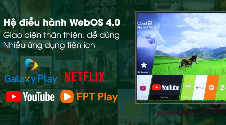 Hệ điều hành WebOS 4.0  trên Smart Tivi LG 43 inch 43UK6540PTD