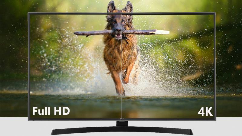Đôh phân giải 4k trên Smart Tivi LG 4K 43 inch 43UK6540PTD