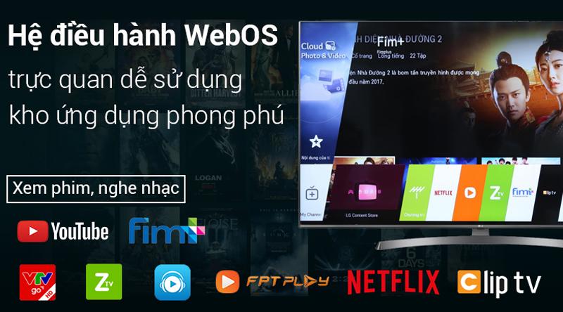 Hệ điều hành WebOS 4.0 trên Smart Tivi LG 4K 65 inch 65UK6540PTD