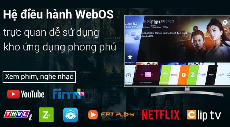 Hệ điều hành WebOS trên Smart Tivi LG 4K 49 inch 49UK7500PTA