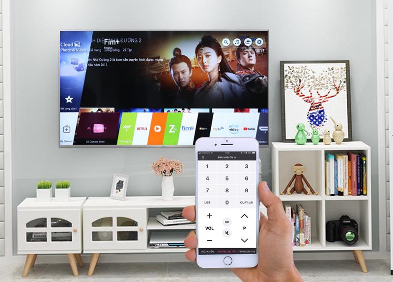Điều khiển Smart Tivi LG 4K 49 inch 49UK7500PTA bằng điện thoại