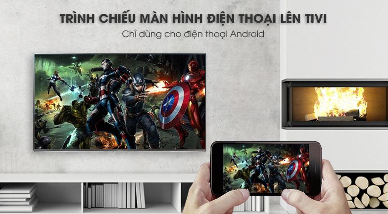 chieu màn hình Smart Tivi LG 4K 49 inch 49UK7500PTA