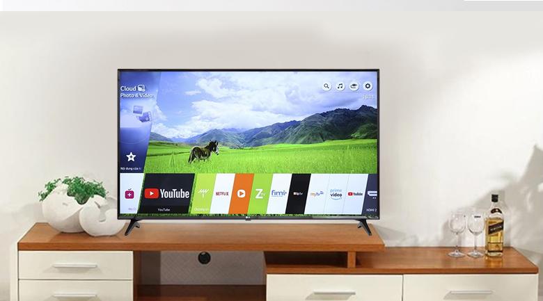 Hệ điều hành WebOS Smart Tivi LG 4K 55 inch 55UK6100PTA