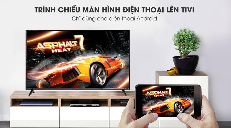 Chiếu màn hình điện thoại lên tivi Smart Tivi LG 4K 55 inch 55UK6100PTA