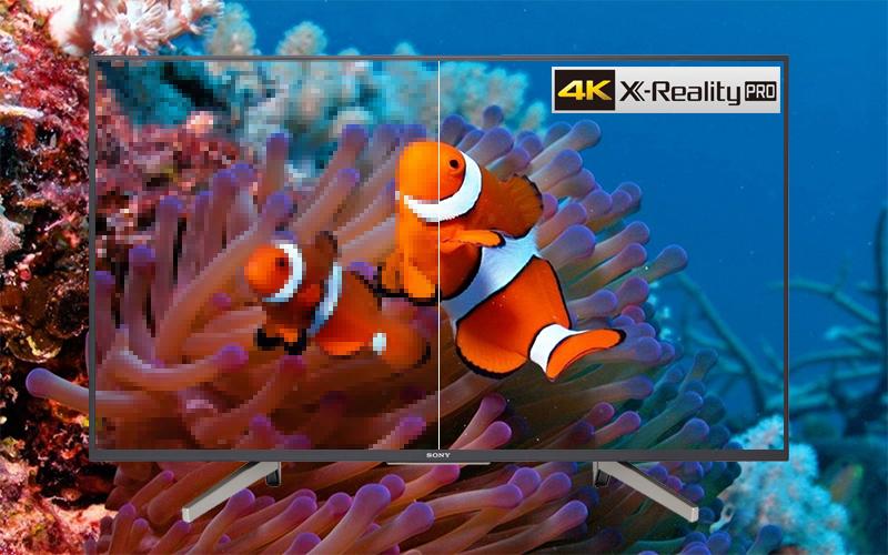 Công nghệ 4K X-Reality Pro trên Android Tivi Sony 4K 55 inch KD-55X7500F