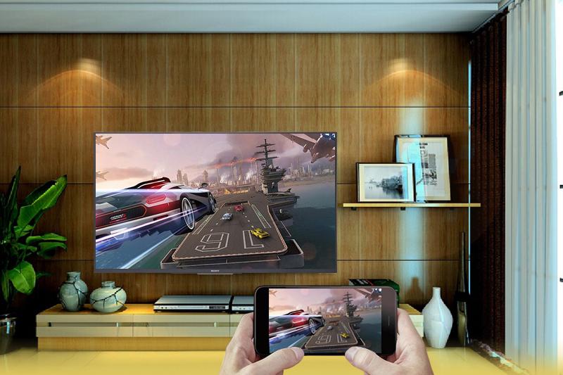 Chiếu màn hình điện thoại lên Android Tivi Sony 4K 65 inch KD-65X7500F