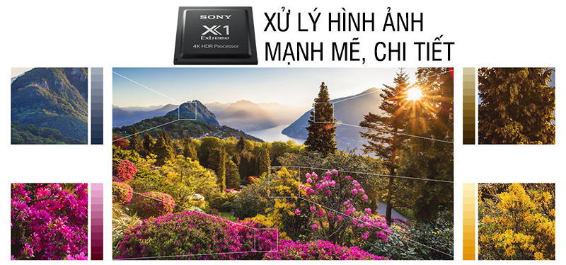 Chip xử lý hình ảnh X1 Extreme trên Android Tivi Sony 4K 85 inch KD-85X9000F