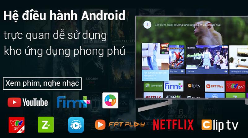 Hệ điều hành Android trên Android Tivi Sony 4K 85 inch KD-85X9000F