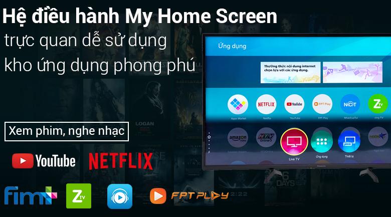 Hệ điều hành My home Screen trên Smart Tivi Panasonic 50 inch TH-50FS500V