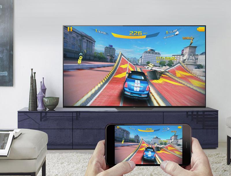 Chiếu màn hình điện thoại lên Android Tivi OLED Sony 4K 55 inch KD-55A8F