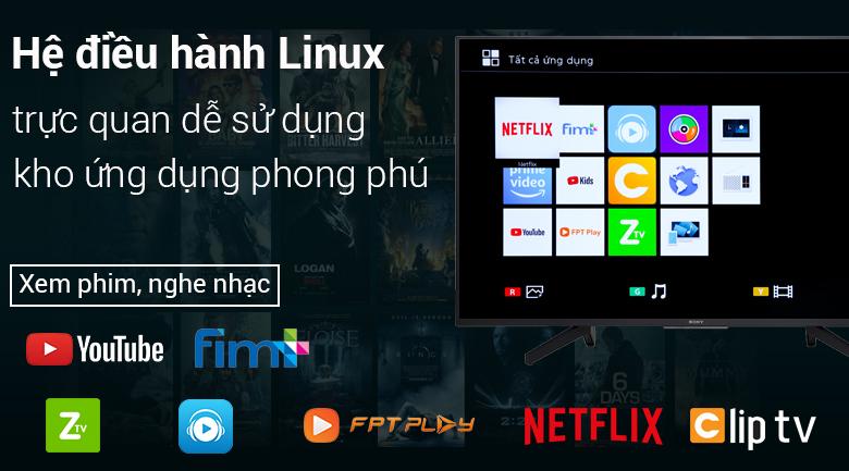 Smart Tivi Sony 4K 55 inch KD-55X7000F - Hệ điều hành Linux giao diện thân thiện, dễ sử dụng