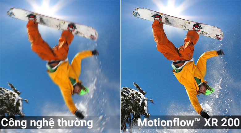 Công nghệ Motionflow™ XR 200 trên Smart Tivi Sony 4K 55 inch KD-55X7000F