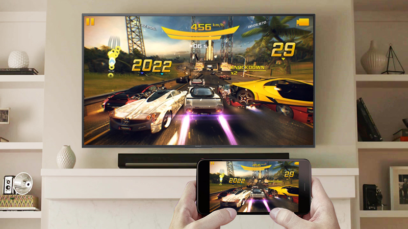 Chiếu màn hình điện thoại lên Smart Tivi Sony 4K 49 inch KD-49X7000F