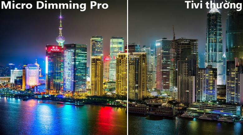 Công nghệ Micro Dimming Pro tăng cường độ sâu hình ảnh
