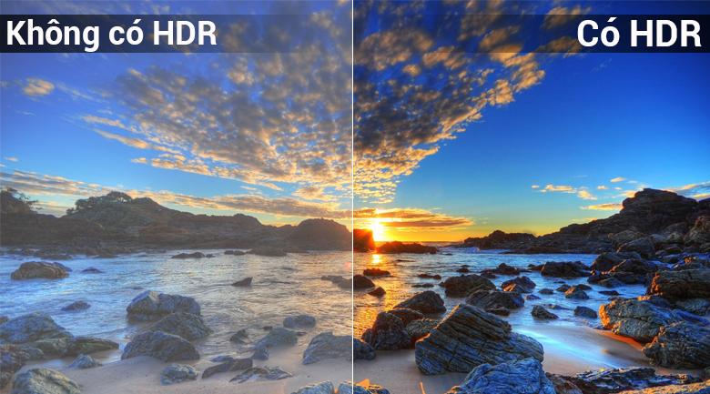 Công nghệ HDR trên Smart Tivi QLED Samsung 4K 49 inch QA49Q6FN