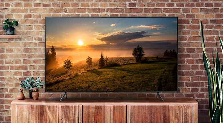 Thiết kế sắc xảo, sang trọng trên Smart Tivi QLED Samsung 4K 49 inch QA49Q6FN