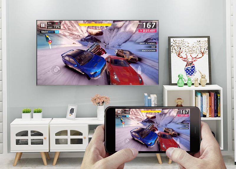 Smart Tivi QLED Samsung 4K 65 inch QA65Q6FN - Screen Mirroring