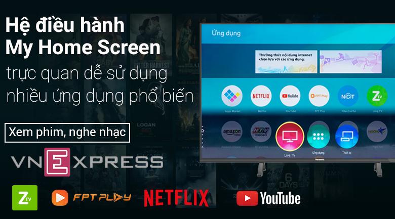 Hệ điều hành My Home Screen 3.0 trên Smart Tivi Panasonic 4K 49 inch TH-49FX500V
