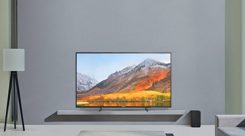 Thiết kế tinh tế, gọn gàng trên Smart Tivi Panasonic 4K 49 inch TH-49FX500V