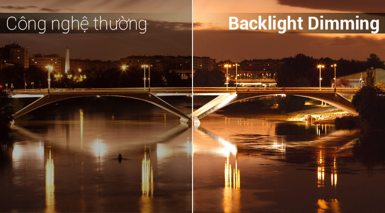 Công nghệ Adaptive Backlight Dimming trên Tivi LED Panasonic TH-43FX500V