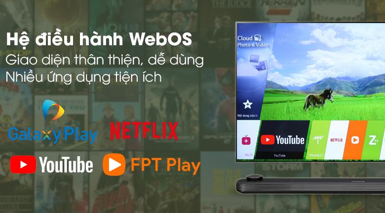Hệ điều hành WebOS - Smart Tivi OLED LG 4K 65 inch 65W8PTA