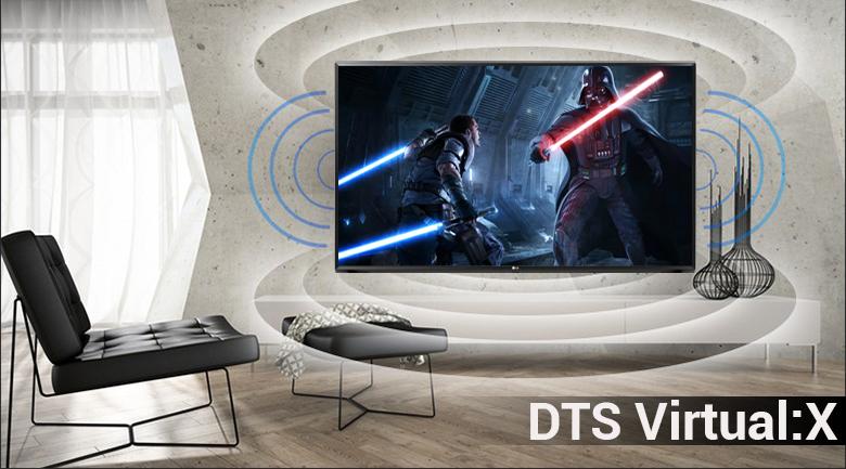 Công nghệ âm thanh DTS Virtual:X trên Smart Tivi LG 4K 55 inch 55UK6340PTF