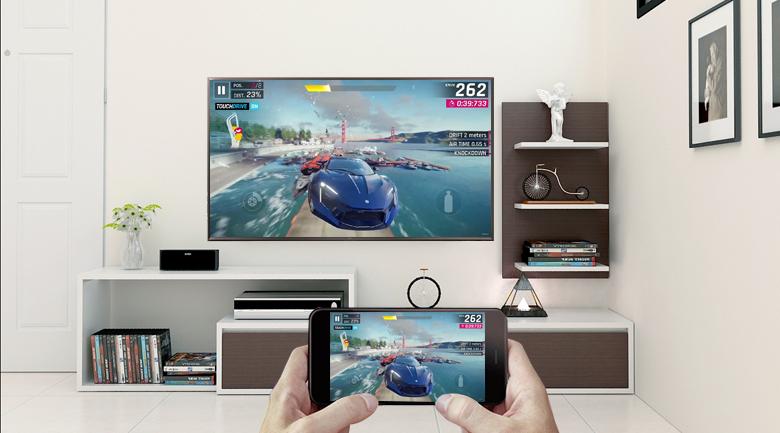 Chiếu màn hình điện thoại lên Smart Tivi LG 4K 55 inch 55UK6340PTF