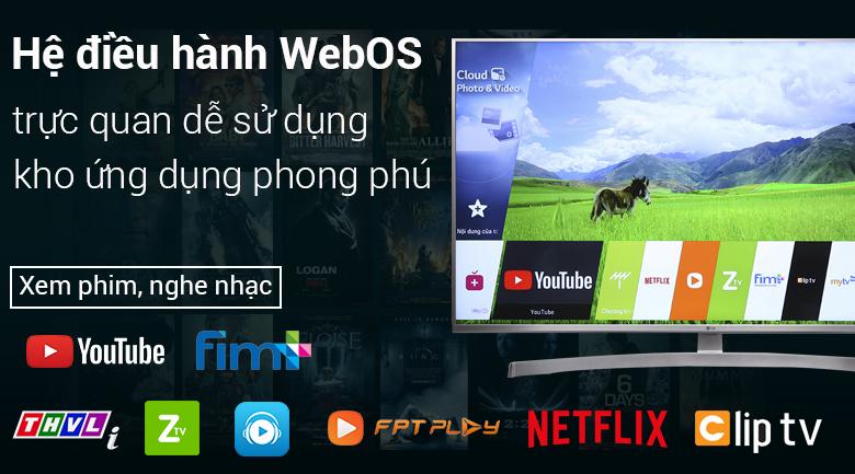 Hệ điều hành WebOS 4.0 trên Smart Tivi LG 4K 55 inch 55UK7500PTA