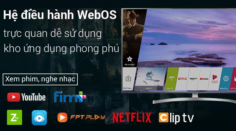 Hệ điều hành webOS Smart TV dễ sử dụng, thân thiện trên Smart Tivi LG 4K 75 inch 75SK8000PTA
