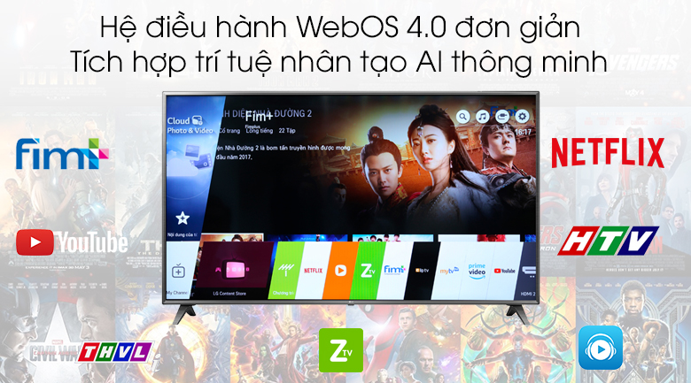 WebOS 4.0 - Smart Tivi LG 4K 75 inch 75UK6500PTB