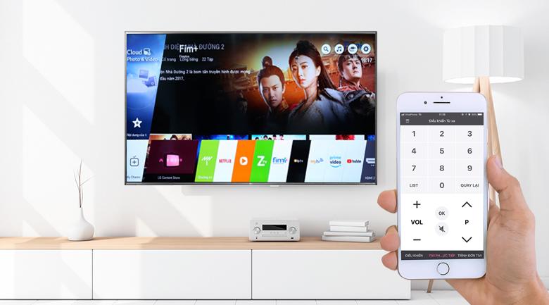 Điều khiển tivi bằng điện thoại - Smart Tivi LG 4K 75 inch 75UK6500PTB