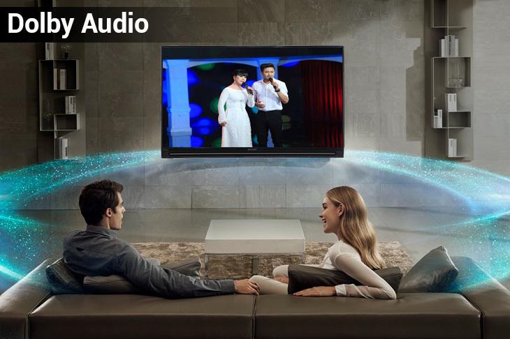 Âm thanh vòm sống động với công nghệ Dolby Audio
