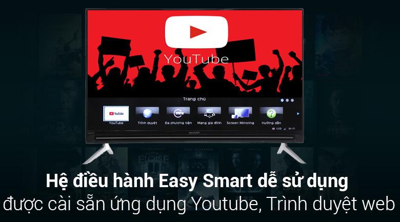 Hệ điều hành Easy Smart trên Smart Tivi Sharp FHD 40 inch LC-40SA5500X
