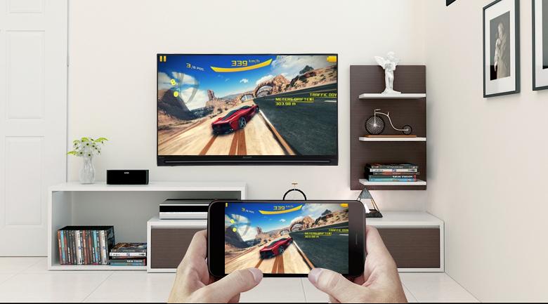 Chiếu màn hình điện thoại lên Smart Tivi Sharp FHD 40 inch LC-40SA5500X