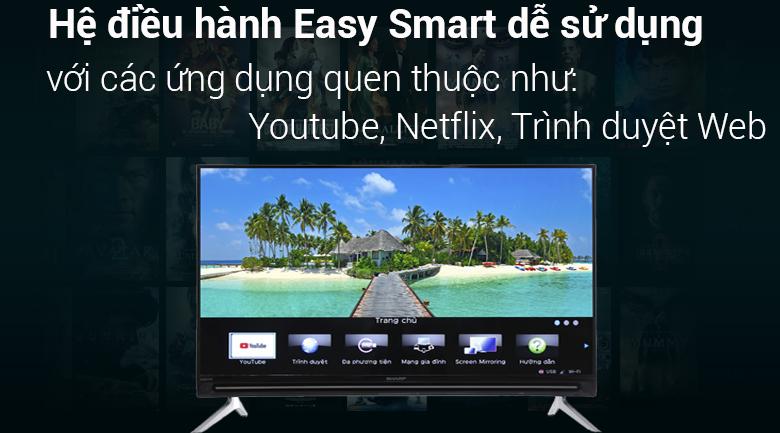 Hệ điều hành Easy smart trên Smart Tivi Sharp HD 32 inch LC-32SA4500X