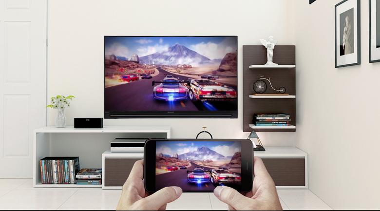 Chiếu màn hình điện thoại lên Smart Tivi Sharp HD 32 inch LC-32SA4500X